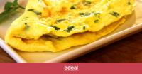 Receta de Omelette con espinaca y queso